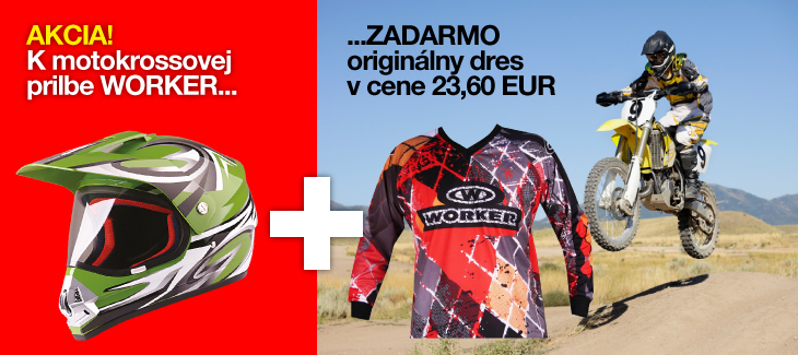 Motodres k prilbe zadarmo!