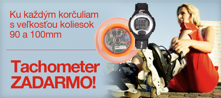 Tachometer zadarmo ku kolieskovm koruliam