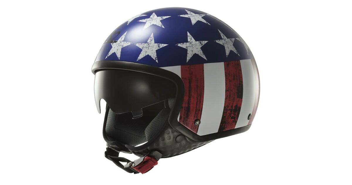 Moto prilba LS2 OF561 Wave Raw US Flag - inSPORTline 2d691d7211