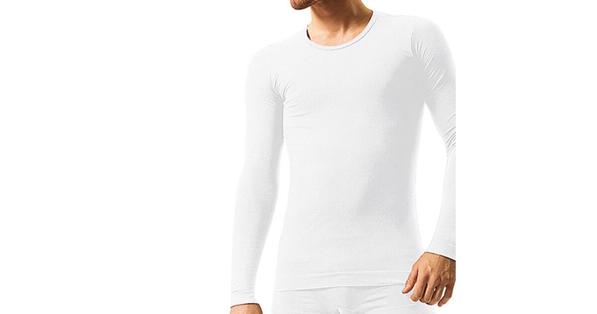 Pánske bezšvové bavlnené tričko Brubeck - dlhý rukáv - inSPORTline 5954aad50f