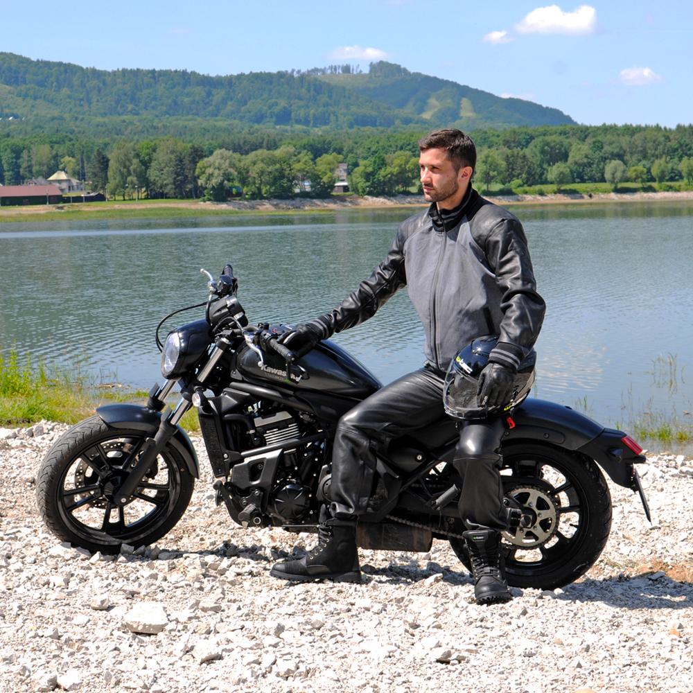 e28578ad8ec2 Pánske kožené moto nohavice W-TEC Roster NF-1250 - čierna. Odolný ...