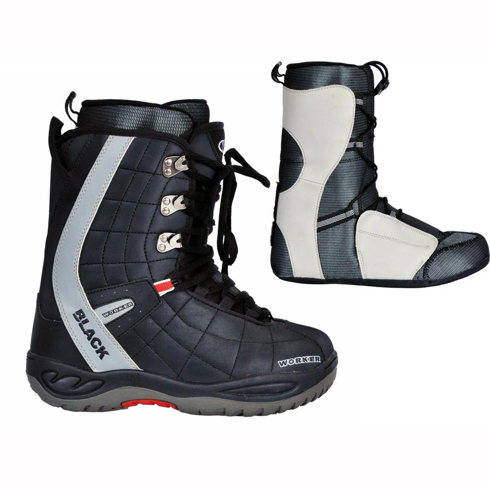 Snowboardové topánky WORKER BLACK - inSPORTline 95d715f90b3