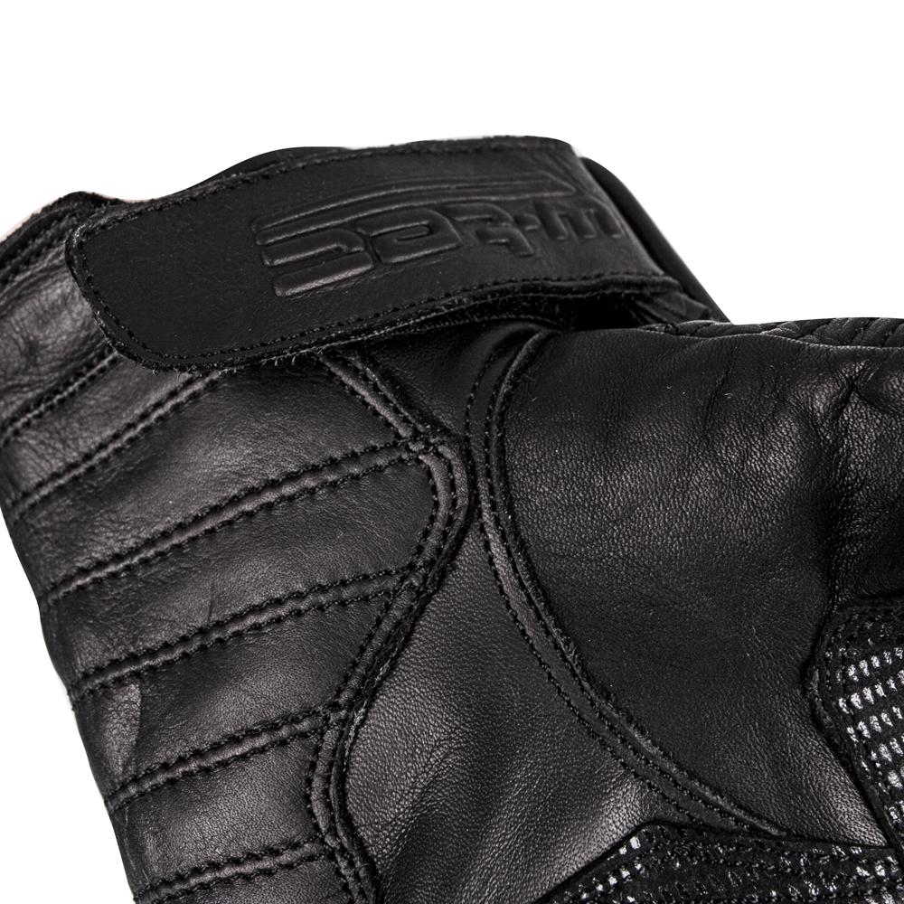 7c4ce405f Kožené moto rukavice W-TEC Brillanta - čierna. Prešívaný dizajn ...