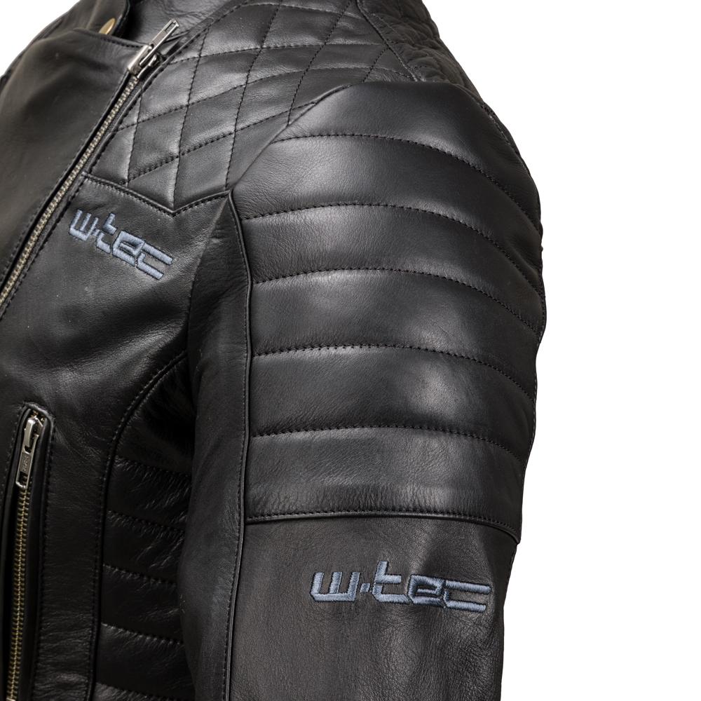 Dámska kožená moto bunda W-TEC Corallia - Black. V ... e4bc3c93698