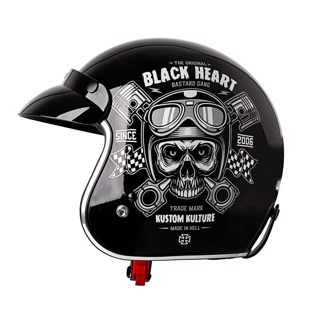 efd8a92cb Moto prilba W-TEC Kustom Black Heart. Originálny ...