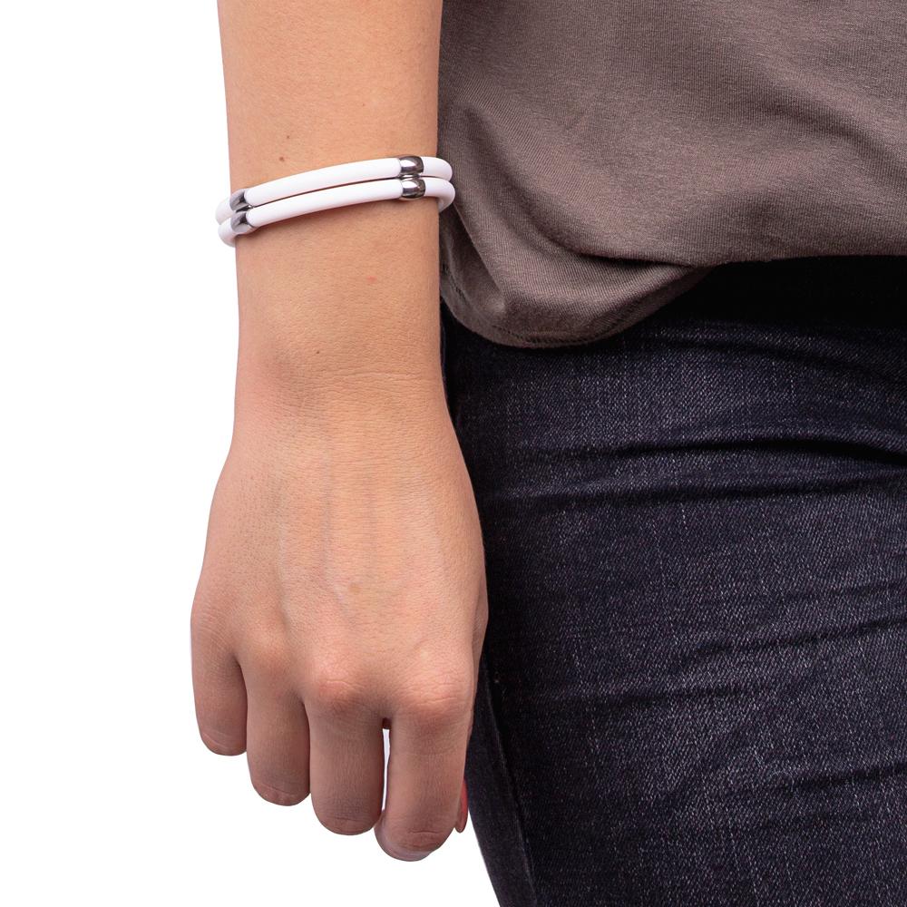 Magnetický náramok inSPORTline Toliman - biela. Štýlový náramok ... 6b9e259c939