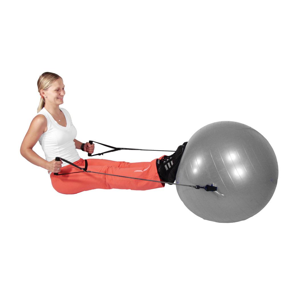 Cvičenie s gymnastickou loptou s úchytmi