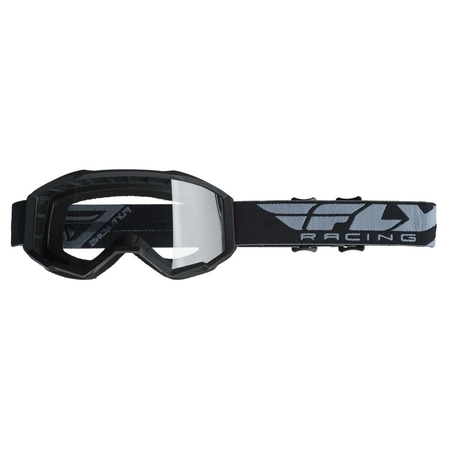 0c0425599 Motokrosové okuliare Fly Racing Focus 2019 - čierne, číre plexi bez pinov