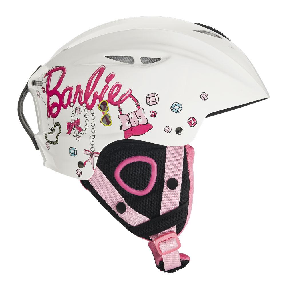 Detská lyžiarska prilba Vision One Barbie - biela - inSPORTline 3397a4711e8
