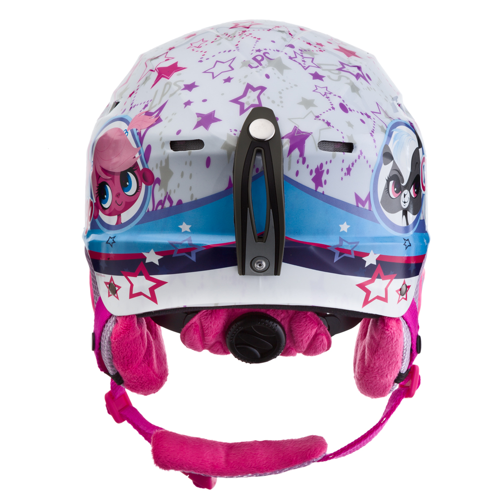 Detská lyžiarska prilba Vision One Littlest Petshop - biely grafit. Odolná  plastová škrupina ... 1c51c18db36