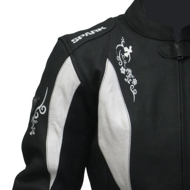 Dámska moto bunda Spark Jane - čierno-biela. Kvalitná ... d9d7862a991