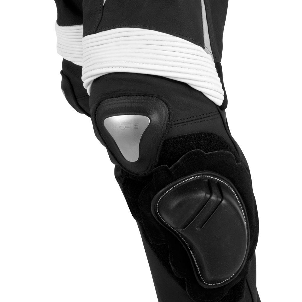 0c60cdd25901 Pánske kožené moto nohavice W-TEC Vector - čierno-modrá - inSPORTline