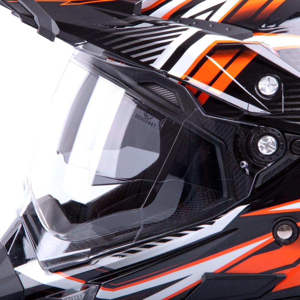 Motokrosová prilba W-TEC AP-885 graphic - čierno-oranžová. Aerodynamický  tvar ... 6c5bf3c9145