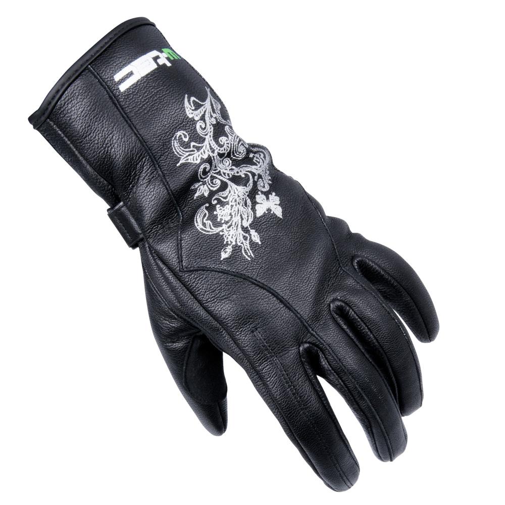 0674e870a32 Dámske kožené moto rukavice W-TEC Natali - čierna. Dámske kožené moto  rukavice ...