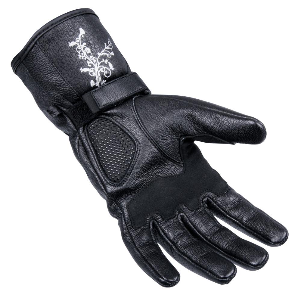0e825aeda Dámske kožené moto rukavice W-TEC Natali - čierna. Dámske ...