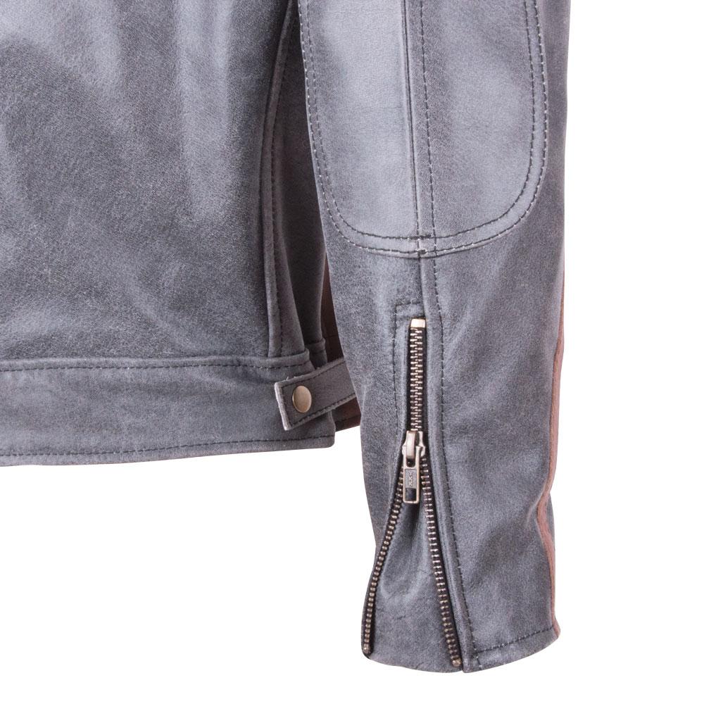 Kožená moto bunda BOS 2058 Vintage grey - šedá. Kožená ... 464aaac345c