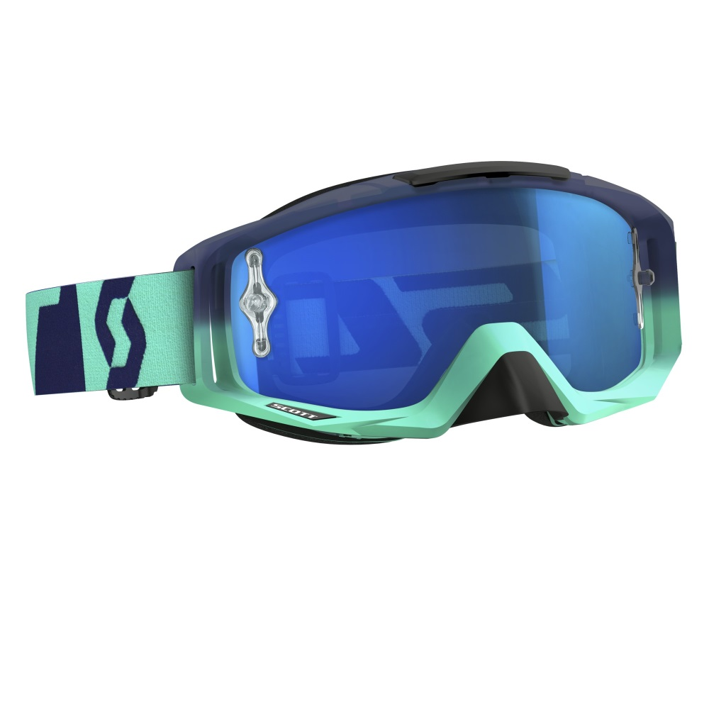 eb5038af4 Moto okuliare SCOTT Tyrant - oxide turquoise-blue-electric blue chrome