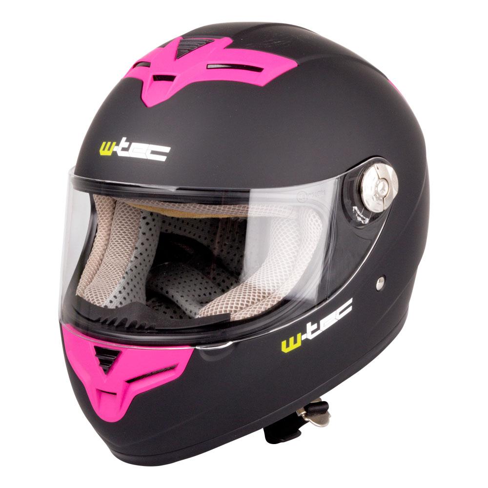 Moto prilba W-TEC V105 - čierno-ružová bdde5d3fd4