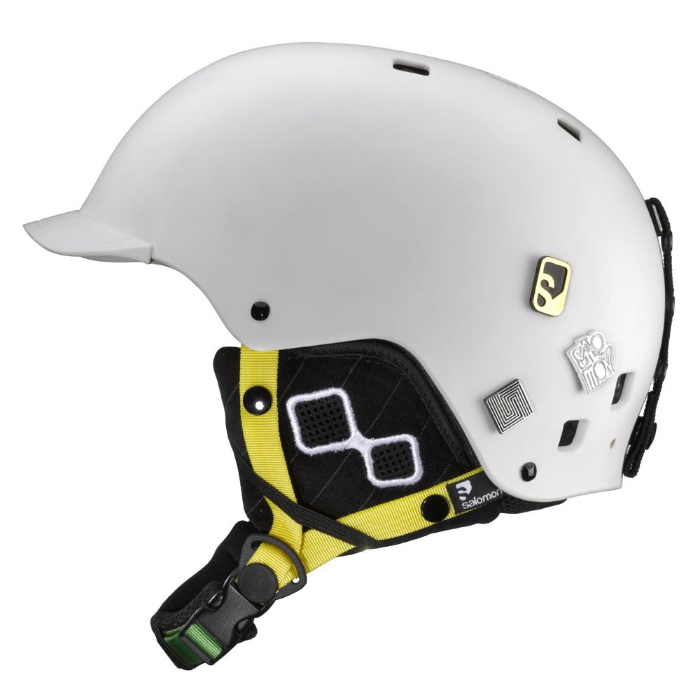 Lyžiarska prilba SALOMON Brigade - White Matt. Freestyle helma ... 99876525a1f