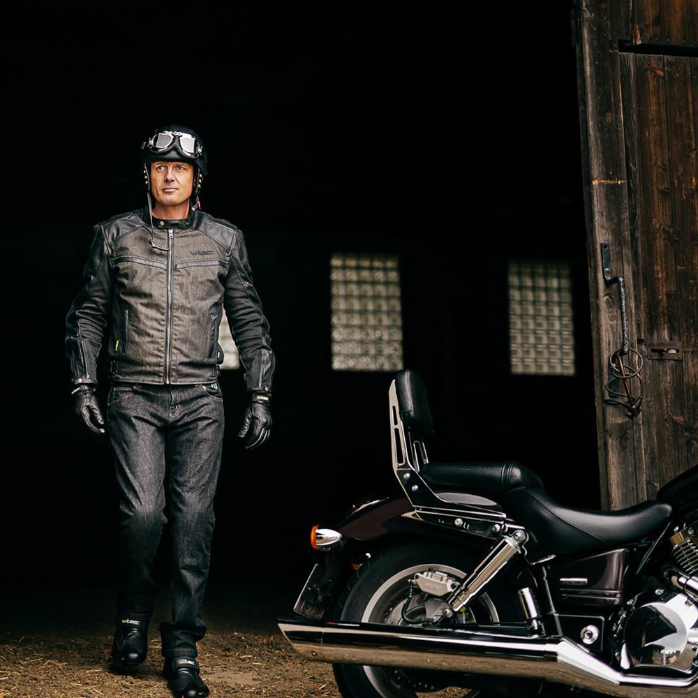 6c2e6de63 Letné kožené moto rukavice W-TEC Nyarra NF-4150 - šedá. Perforácia ...