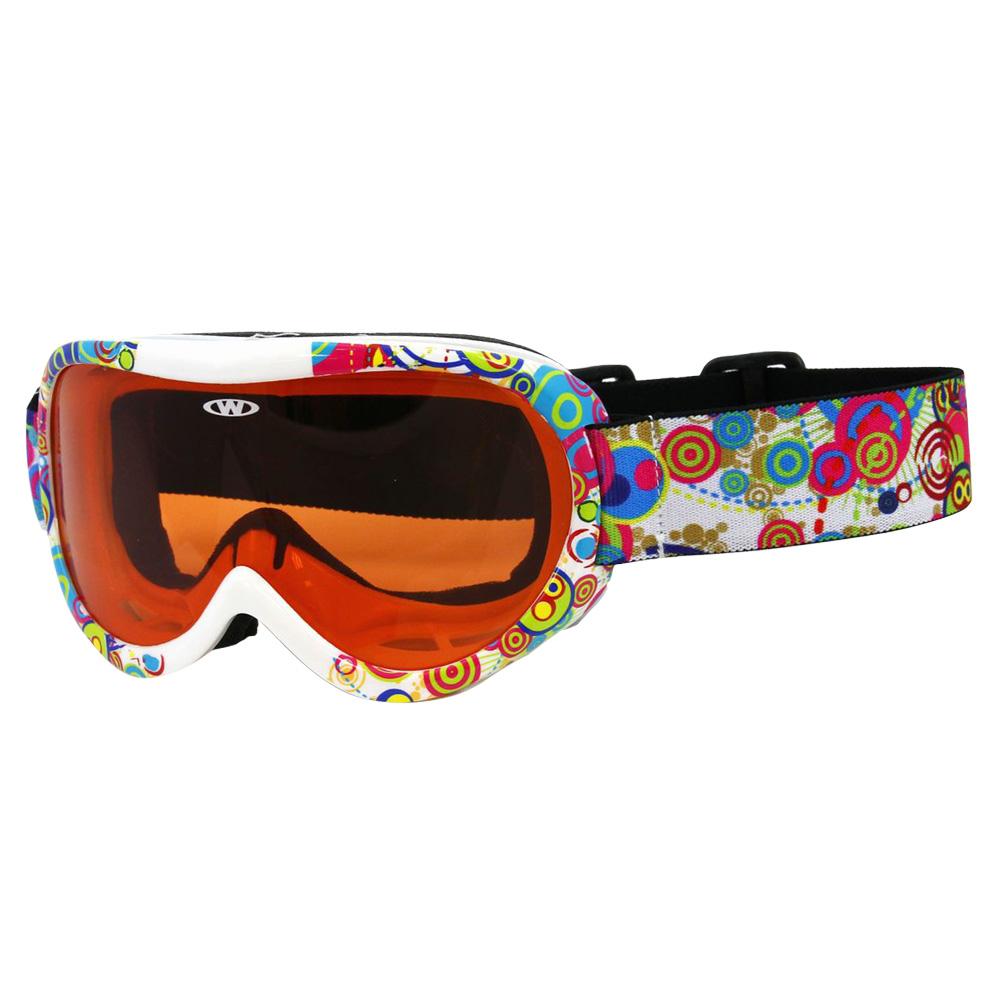 Detské lyžiarske okuliare WORKER Miller s grafikou - inSPORTline 3382f5508cb