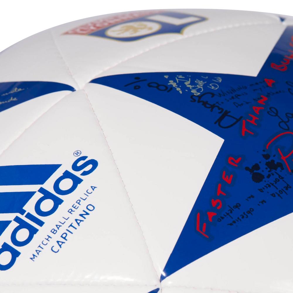 3609ecd16 Futbalová lopta Adidas Capitano Finale 16 Olympique Lyon AP0402 bielo-modrá.  Pre ...