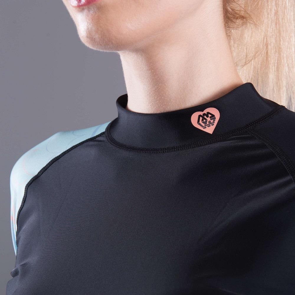 30e7fe2223b Dámske tričko pre vodné športy Aqua Marina Illusion - modrá. Elastický  materiál ...