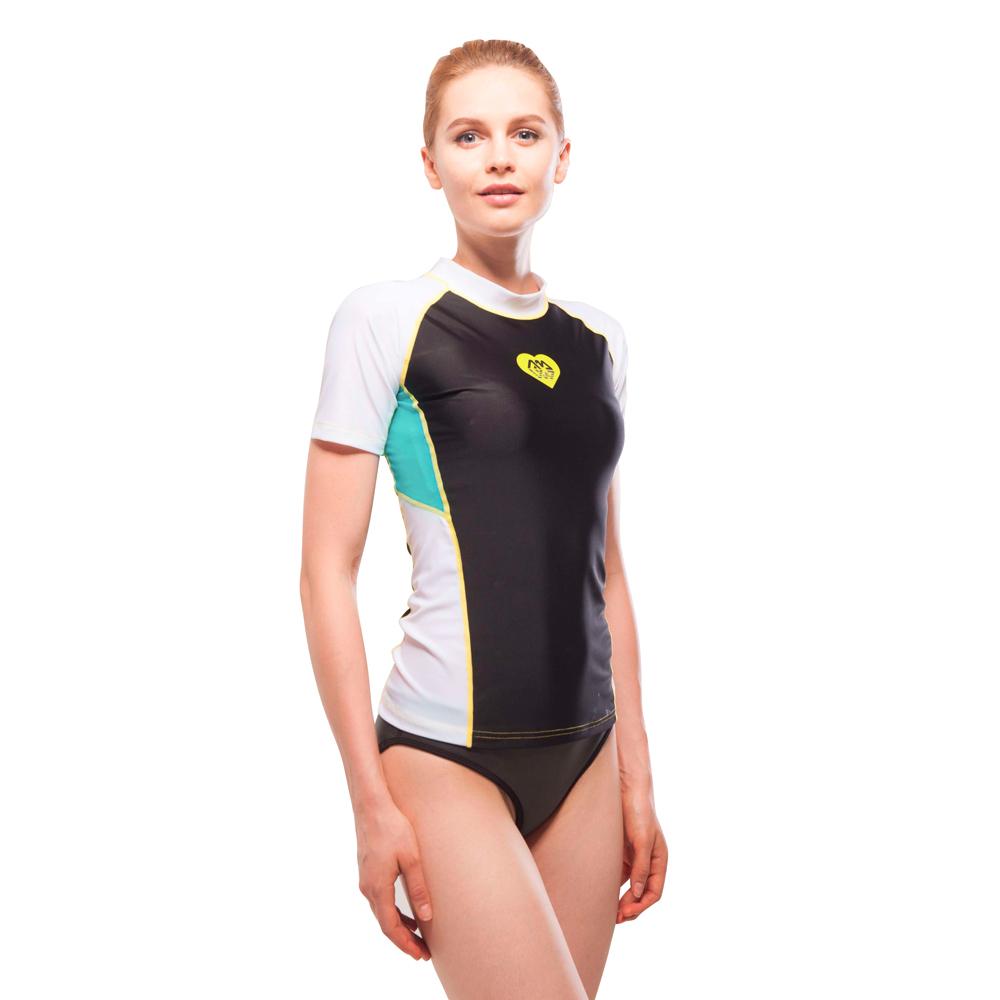 6043988cc5d7c Dámske tričko pre vodné športy Aqua Marina Alluv - čierno-biela