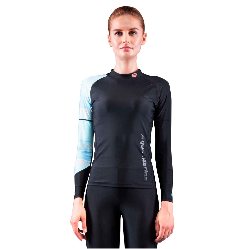 4cb7b3236df Dámske tričko pre vodné športy Aqua Marina Illusion - čierna. Elastický  materiál ...