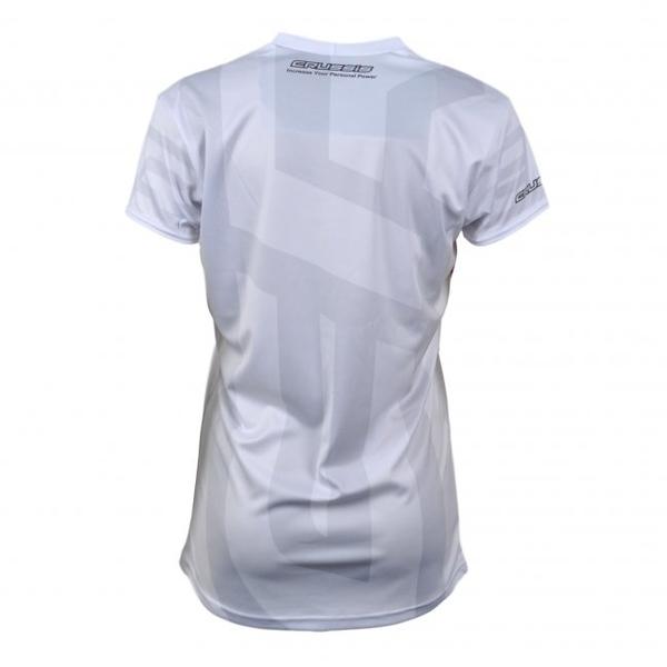 Dámske tričko s krátkym rukávom CRUSSIS biele - inSPORTline b09156039e6