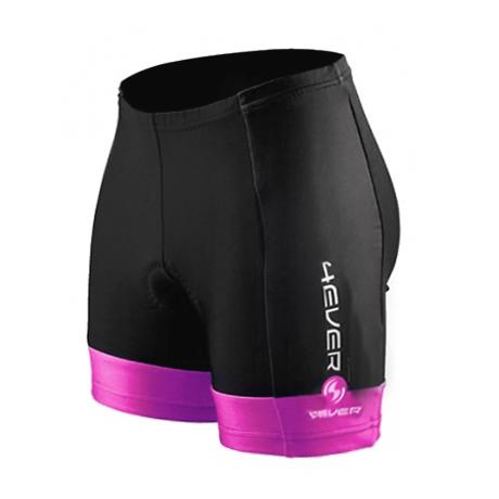0d225950e71f Dámske cyklo nohavice 4EVER - krátke - čierno-ružová - inSPORTline