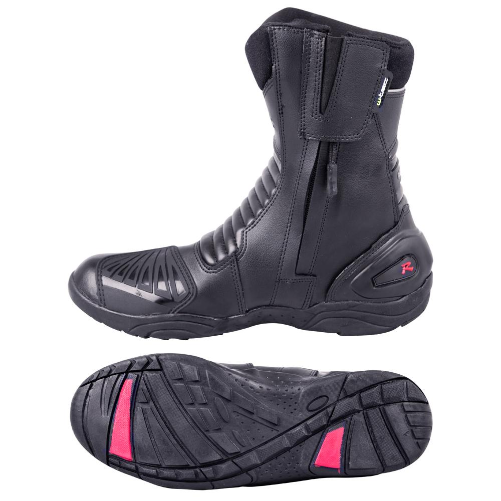5620b6e36e383 Kožené moto topánky W-TEC Benkoff NF-6052 - čierna. Nižšie ...