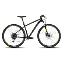 "Horský bicykel Ghost Kato 8.9 AL U 29"" - model 2019 - Night Black / Titanium Grey / Spectra Yellow"