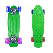 "Mini pennyboard WORKER Pico 17"" so svietiacimi kolieskami - zelená"