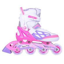 Nastaviteľné kolieskové korčule WORKER Nubila - růžovo-fialovo-biela 2bd216c3a82