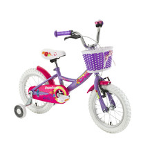 "Detský bicykel DHS Countess 1402 14"" - model 2017 - Purple"