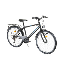 "Juniorský bicykel Kreativ 2413 24"" - model 2016 - Black-Green"