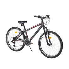 "Juniorský horský bicykel DHS Terrana 2423 24"" - model 2016 - Black"