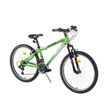 "Juniorský horský bicykel DHS Terrana 2423 24"" - model 2017 - Green"