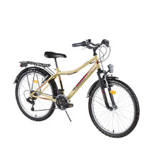 "Juniorský bicykel DHS Travel 2431 24"" - model 2017 - Ivory"