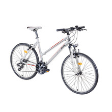 "Dámsky crossový bicykel DHS Contura 2666 26"" - model 2016 - White-Orange"