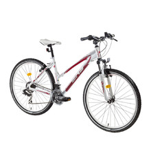 "Dámsky horský bicykel DHS Terrana 2922 29"" - model 2016 - White-Red"