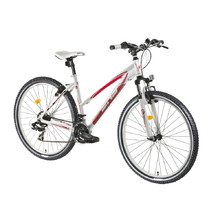 "Dámsky horský bicykel DHS Terrana 2722 27,5"" - model 2016 - White-Red"
