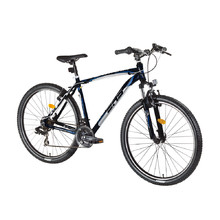 "Horský bicykel DHS Terrana 2623 26"" - model 2016 - Black-White-Blue"