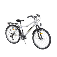 "Juniorský bicykel DHS Travel 2431 24"" - model 2016 - White"