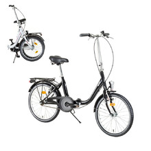 "Skladací bicykel DHS Folder 2092 20"" - model 2017 - Black"