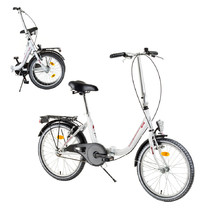 "Skladací bicykel DHS Folder 2092 20"" - model 2017 - White"
