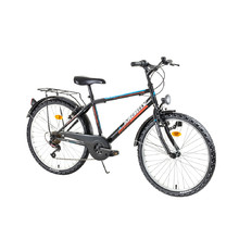 "Juniorský bicykel Kreativ 2413 24"" - model 2017 - Black-Orange"