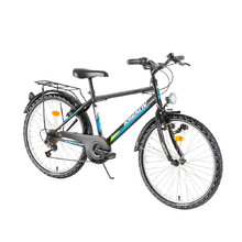 "Juniorský bicykel Kreativ 2413 24"" - model 2018 - Black"