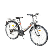 "Juniorský bicykel Kreativ 2414 24"" - model 2018 - Grey"